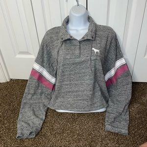 Pink sweatshirt chopped size L